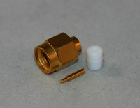 CON:SMA Plug for  141 S R  Straight Direct Solder Type  Gold